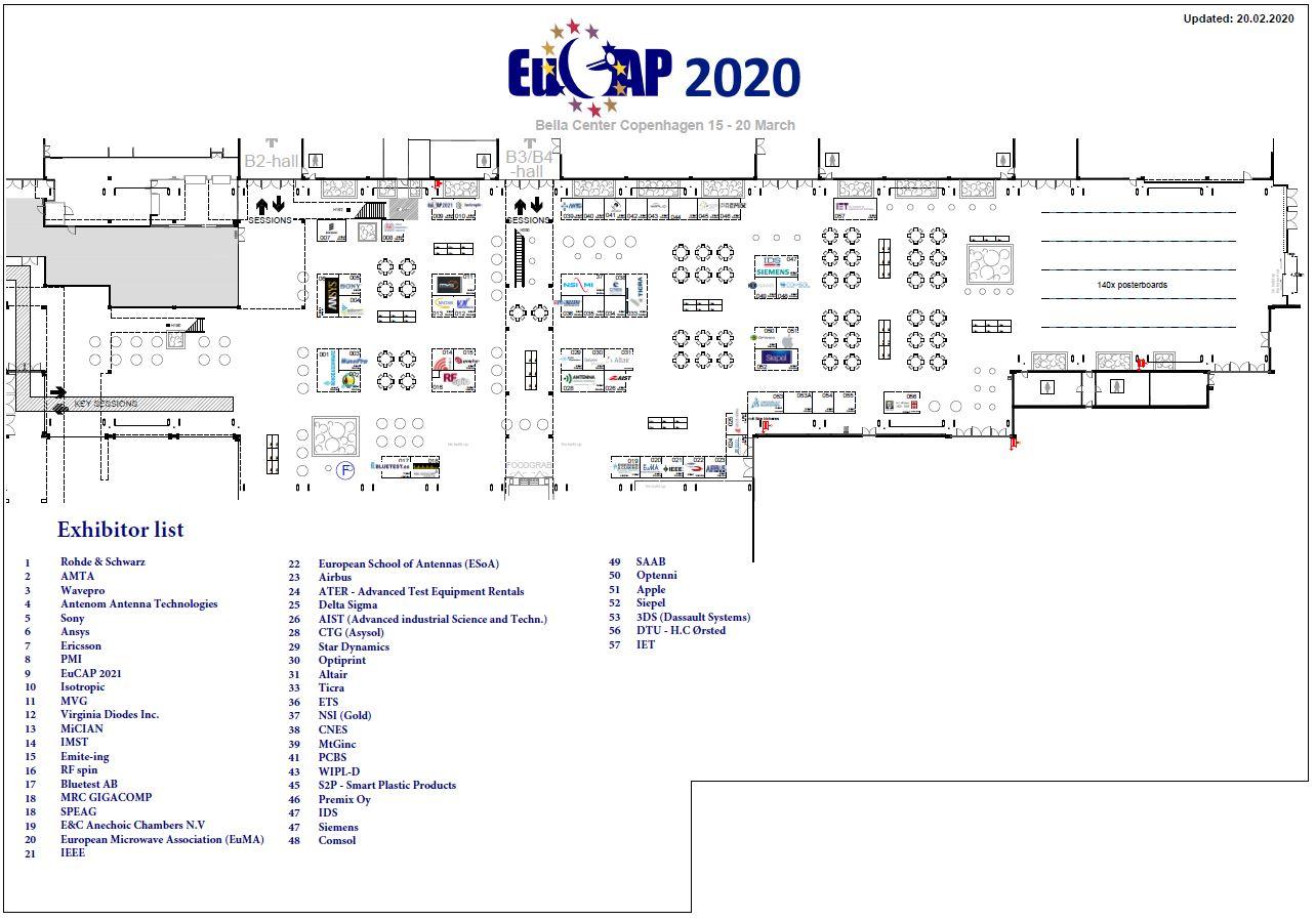 EuCAP 2020 floorplan 20022020